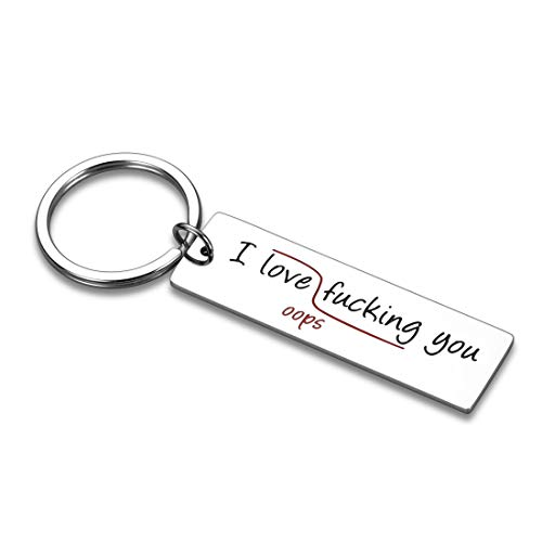 """Lustiger Schlüsselanhänger für Paare, Geschenke, Ehefrau, für Freund, Freundin, flirtierendes Zitat """"I Love You"""", Schlüsselanhänger, Geburtstag, Valentinstag, Geschenke für Ehemann, Ihn, Ihren Schmuck"""