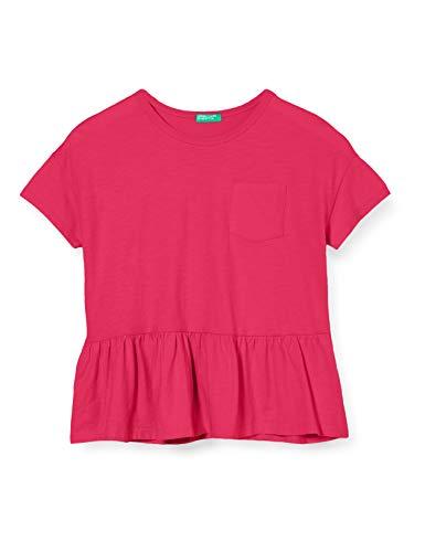 Benetton T-Shirt Camiseta de Tirantes, Rosa (Pink Peacock 2l3), 116 (Talla del Fabricante: Small) para Niñas