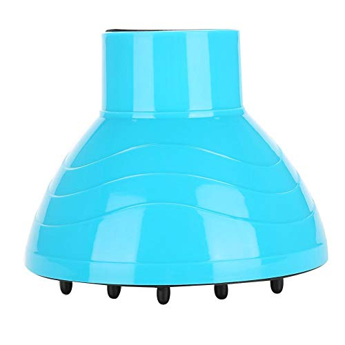 Ventilador universal Peluquería Secador de Pelo Rizado Accesorios de la herramienta de modelado de la cubierta del difusor plegable(Blue)
