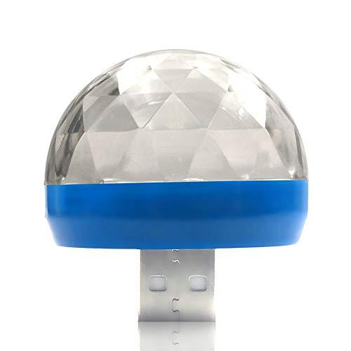 Fangteke Lámparas de Iluminación de Escenario Mini Bola de Cristal USB Portátil Luz de Discoteca Led Efecto Colorido Control de Sonido Lámpara de Escenario Decoración de Fiesta en Casa