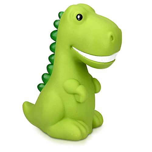 Navaris Luz de noche para niños - Lámpara LED de dinosaurio y cable micro USB - Iluminación RGB brillo ajustable y temporizador - De color verde