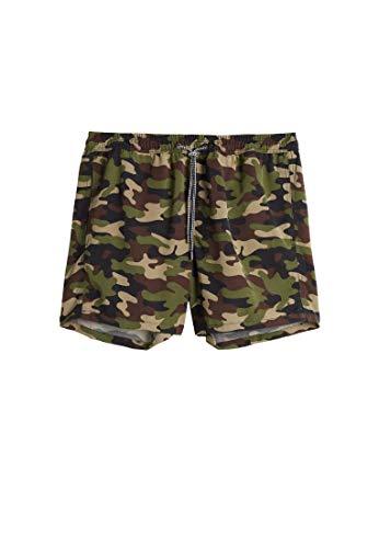 Intimissimi Herren Mittellange Boxer-Badehose mit Camouflage-Print in Grün