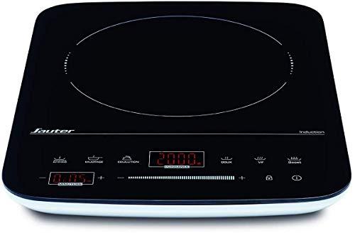 Sauter TIST2000N - Table à Induction - Posable - 1 Foyer - 2000W - Minuteur - Noir et Blanc