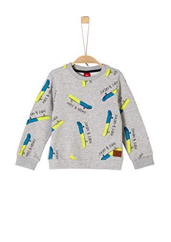 s.Oliver Jungen 74.899.41 Sweatshirt, Grau (Grey/Black AOP 94a4), 92/98