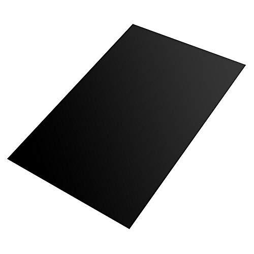 200x300x0.6mm Black Silicone Rubber Sheet Self Adhesive Pad High...