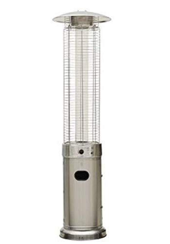 Quartz Glass Flame Tube Patio Heater Stainless Steel 227cm tall 13 Kw Stylish