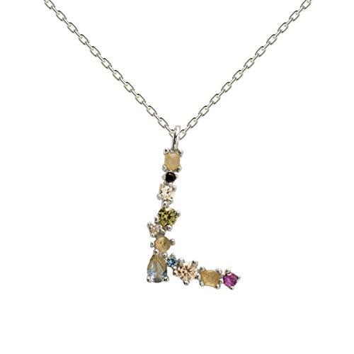 Necklace P D PAOLA CO02-107-U silver, letter L