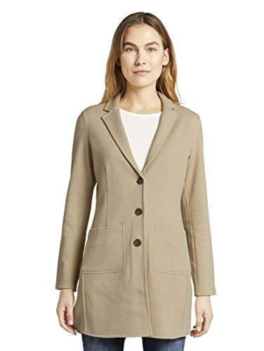 TOM TAILOR Damen Coat Blazer, Cream Toffee, XXL
