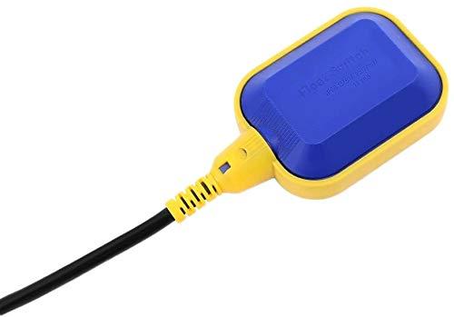 Ejoyous Kabeltyp Schwimmerschalter, Kabel Flüssigkeits-Wasserstandsregler Sensor, Klärgrube, Schmutzwasserpumpe, Wassertank(Kabellänge: 10M)