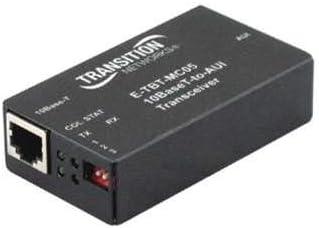 Transition Networks E-TBT-MC05 Transceiver - 10Base-T, 10Base-5 (coax), AUI - RJ-45 / 15 pin D-Sub (DB-15) - up to 330 ft