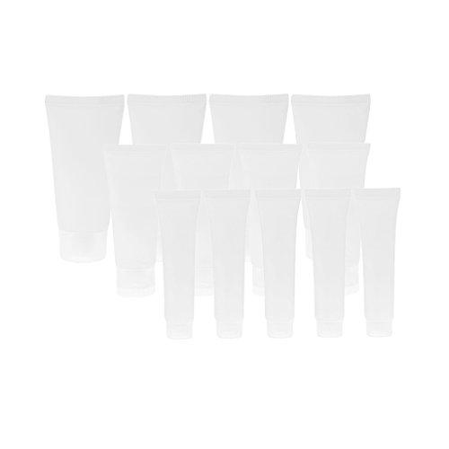 15 Stück Transparente 30ml, 50ml, 15ml leere Tuben Klare kosmetische Behälter