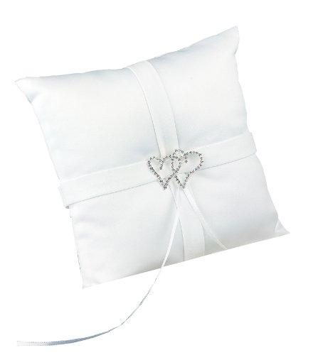 Hortense B. Hewitt Wedding Accessories With All My Heart Ring Bearer Pillow, White