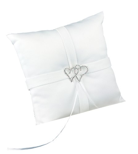Hortense B. Hewitt Wedding Accessories With All My Heart Ring Bearer Pillow, White