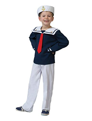 Kostüm Sailor Malte Kind Größe 116 Kinderkostüm Jungenkostüm Matrose Marine Seemann Pierro's Kostüm