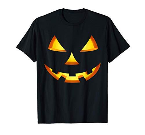 Lustiges Halloween Kostüm Shirt Kürbis Gesicht T-Shirt