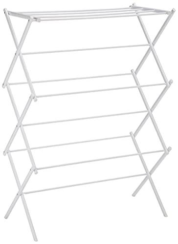 Amazon Basics - Tendedero plegable, color blanco