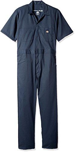 Dickies Herren Flex Short Sleeve Coverall Arbeitsanzug, Dunkles Marineblau, Groß