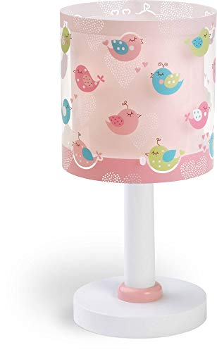 Dalber Birds Lámpara de mesa, Rosa, 15 x 15 x 30 cm