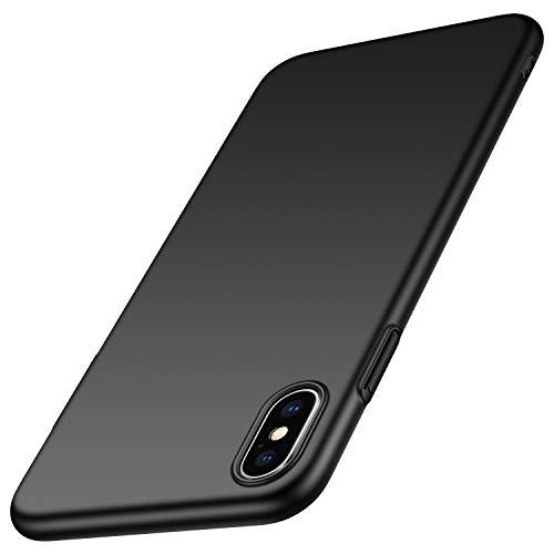 Anccer Cover iPhone XS Max, [Alta Qualità] [Ultra Thin] Anti-Scratch Hard PC Case Custodia per Apple iPhone XS Max (Liscio nero)