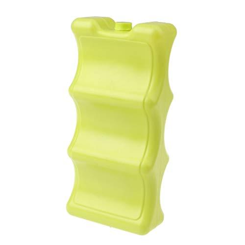 Tubayia Bolsa de hielo reutilizable, acumuladores de frío para camping, picnic, nevera portátil (amarillo tipo 1)