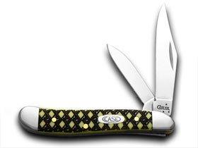 CASE XX Yellow Celtic Maze Peanut 1/1000 Pocket Knife Knives