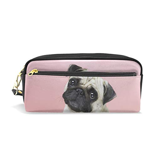 Funny Pug Dog Pencil Case Pen Box Pouch Bag School Stationery Supplies Travel Cosmetic Makeup Bag