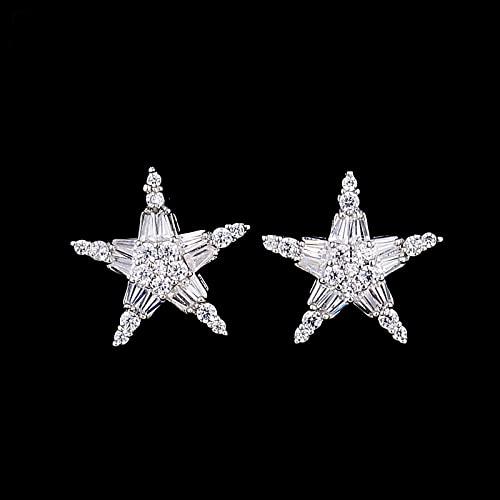 Cubic Zirconia AAA Clip on Earrings no Pierced Ear Cuff Masculino Women Earrings Star Ear Jacket wrap earcuff brincos