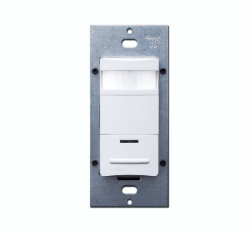Leviton OSSNL-IDW180 Degree, 1200 Square Foot Coverage Decora Passive Infrared Wall Switch Occupancy Sensor, LED Adjustable Night Light, White