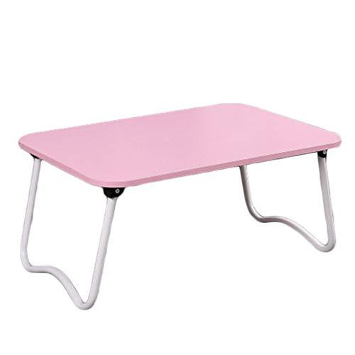 DQMSB Table Pliante Portable Petit-déjeuner Table de lit (Couleur : Pink)