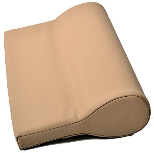 Nackenkissen ölabweisend und wasserabweisend für die Massage mit Feinzellschaumstoff und PU-Bezug als Nackenstützkissen für die Massageliege in Beige