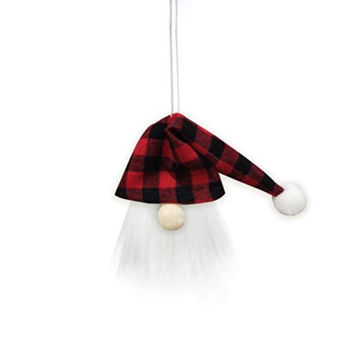 Guillala 1 Packung Weihnachtszwerge Weinflaschenabdeckung Handgemachte schwedische Zwerge Weinflaschendeckel Weihnachtsbaum hängen Anhänger gesichtslose Puppe für Festival Dinner Party Tischdekoration