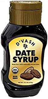 D'vash Organic Date Syrup, Superfood Sugar Substitute Made with 100% Organic Dates, Vegan Gluten Free Liquid Sweetener No ...