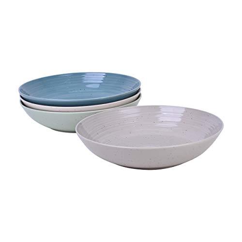 Sango Siterra Artist's Blend Stoneware Dinner Bowls, Green (Set of 4)