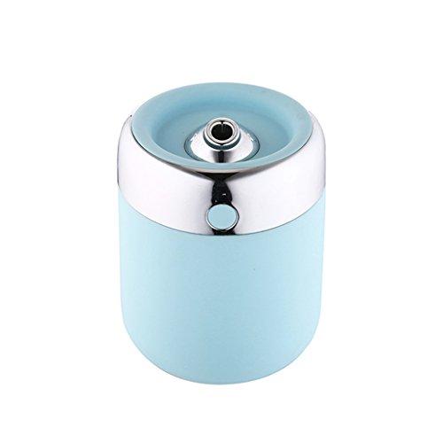 QIHANGCHEPIN Fabricante ultrasónico de la niebla del difusor del aroma del aire del humectador de 180ML USB, difusor del aceite esencial del hogar y del coche (Color : Azul)