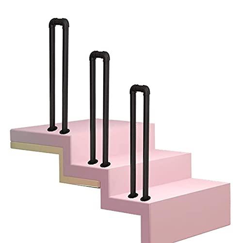 CZYNB Pandrail para Pasos al Aire Libre, Hierro Forjado para escalones Exteriores o Escalera Interior, Escalera del Porche Railo de Mano Raíces Antideslizantes, 1pack (Tamaño: 35 cm) (Size : 50cm)