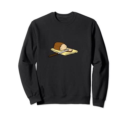 Laib Brot wird aufgeschnitten Sweatshirt