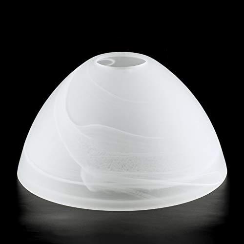 Lampenschirm Ø 170mm Lampenglas Leuchtenglas Alabasterglas für E27 Alabaster Glas matt