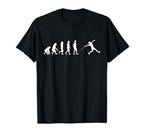 Evolution Speerwurf Athlet TShirt Speerwerfer Speer Javelin