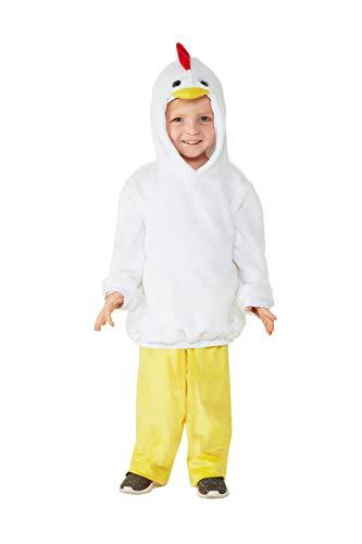 Smiffys 47711T1 - Disfraz infantil de pollo, unisex, para niños