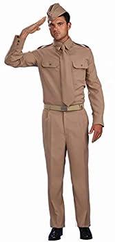 Forum Novelties Men s Combat Heroes Ww2 Private Soldier Costume Khaki Standard