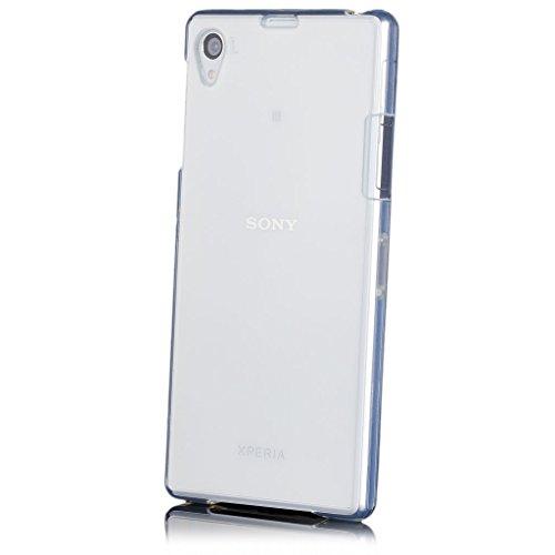iCues | Sony Xperia Z1 | trasparente TPU Chiaro | protettore foglio trasparente della cassa della pelle del gel Sereno Sereno silicone prote [Screen protector Compreso] Custodia Cover Case Tasca Borsa