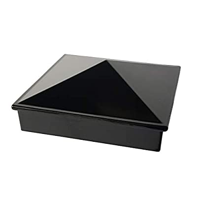 "3"" x 3"" Aluminium Pyramid Post Cap for Metal Posts - Pressure Fit - Black (DHPPC30F)"