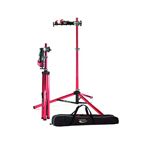 Feedback Sports Pro-Elite Repair Stand with Travel Bag (Red)