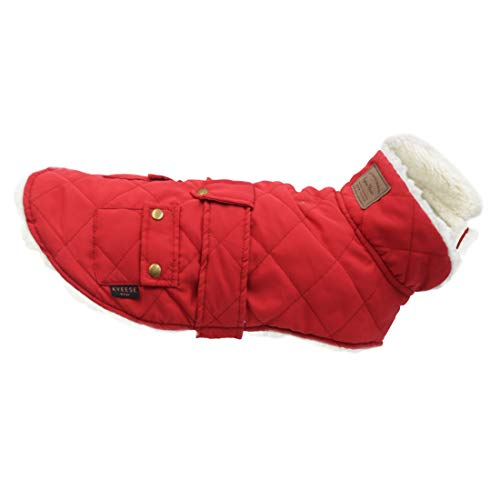 kyeese Dog Jacket Small Dogs for Winter Windproof Fleece Lined Dog Vest Cold Weather Coats with Leash Hole