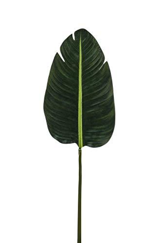 artplants.de Kunstblatt Strelitzien Blatt Woolf, grün, 100cm - Künstliche Paradiesvogelblume - Deko Blatt Strelitzia