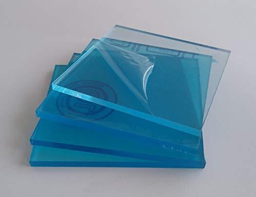 Laserplast 4 X Metacrilato transparente 3 mm. 10 x 10 cm. - Diferentes tamaños (100x100, 100x70, 50x50, 30x30) - Plancha de Metacrilato - Placa acrílico transparente