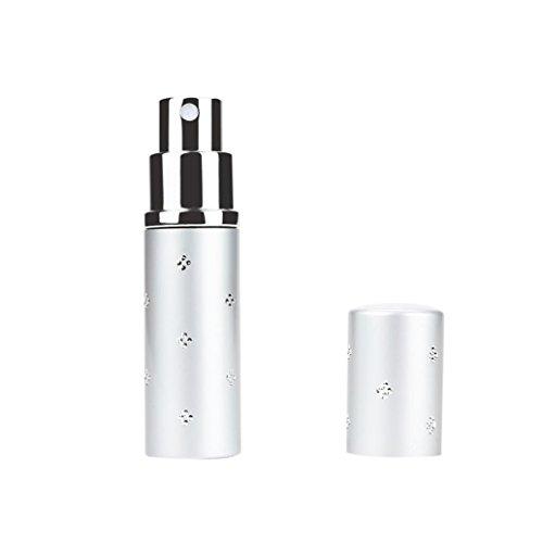 WensLTD Apurement ! 10ml Portable Mini Voyage Parfum Bouteille Pulvérisateur pour Spray Parfumé Pompe Étui - Argent, 10 ML