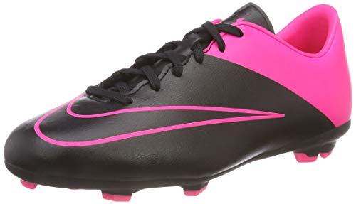 Nike Jr Mercurial Victory V Fg Jungen Fußballtrainings-Schuhe, - - Schwarz - Rosa - Größe: 33 EU