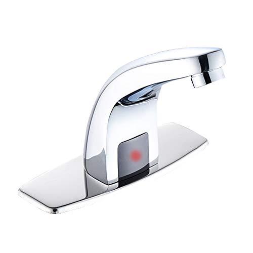 SUNERLORY Grifo de Sensor Automático, Grifo de Sensor de Baño sin Contacto de Acero Inoxidable, Grifos de Tocador Monomando Fríos y Calientes para Grifo de Lavabo de Baño de Cocina