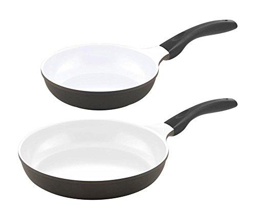 2er Pfannenset culinario Bratpfannen, Ø 24 und 28 cm, anthrazit, antihaft und induktionsgeeignet